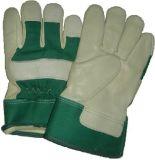 緑牛穀物のやし冬の働く手袋(3102.04)