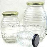 Glas om de Fles van de Streep voor Honing, Kruid, Gelei