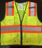 Gripe aviária colete de segurança refletivo amarelo