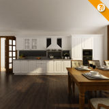 Mobilia di legno della cucina del PVC di bianco moderno veloce di consegna di Oppein (OP14-K002)