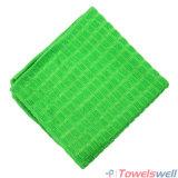 De groene Geruite Droogdoek van de Keuken Microfiber