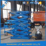 Elevador de tijera hidráulico pequeño Montacargas con CE