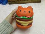 Grosse Hamburger-Katze Squishies duftende PU-langsame steigende Squishy Spielwaren