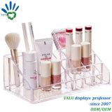 Organizador cosmético de acrílico tablero del sostenedor de cepillo del maquillaje (VAC504)