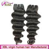 Prolongements de trame mongols profonds lâches de cheveux de nouvelle texture