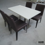 Marbre artificiel Restaurant Table et chaises de salle à manger
