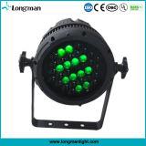 CE extérieure étanche Zoom 36 * 3W RGBW LED PAR Party / Jardin