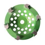 12의 세그먼트 다이아몬드 가는 컵 바퀴 4 인치 금속 가는 잎