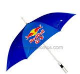 ギフトの傘を広告する自動車の販売