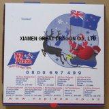 Caja de cartón acanalado para las pizzas, rectángulos de torta, envases de la galleta (PB160630)