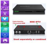 IPTV Set Top Boxの驚かせるTV Box Combine Satellite