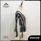 Femmes Zebra-Stripe Leisure Knitwear Pullover Sweater