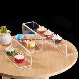 5-Tier Stair-Step Design moderne en acrylique transparent dessert Cupcake Présentoir de montage