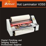 China la fabricación de un4 de sobremesa pequeña película de PVC caliente rodillo caliente máquina laminadora V350