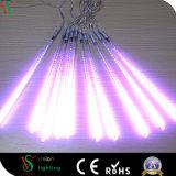 Der Heiß-Verkauf des Doppelten versah LED-Meteor-Festival-Feiertags-Dekoration-Lichter mit Seiten