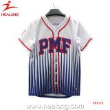 Plein de sublimation chinois tout logo personnalisé maillot de baseball