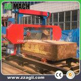 Dieselmotor-horizontale Band-Sägemühle für den Protokoll-Schnitt