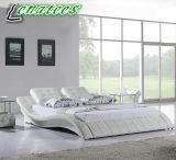 Base blanca de Leater del dormitorio A021 con la luz del LED