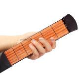 Entrenador de seis guitarra de bolsillo Mahogony Fret