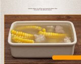 Reis-/Weizen-Pflanzenfaser-Plastikmittagessen-Kasten