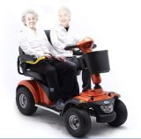 Portées du fauteuil roulant électrique deux avec le dessus (LN-031)