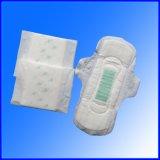Guardanapo sanitário da absorção rápida do algodão para o uso do dia e da noite