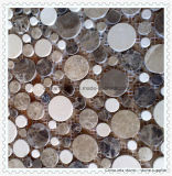 House Building Material Wallおよび北アメリカのFloor Tileのための性質Stone Mosaic White Marble Mosaic