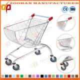 Fächerförmige Speicher-Supermarkt-Karren-Einkaufen-Handlaufkatze (Zht127)