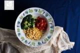 """최신 판매 8.5 """" 큰 접시 꽃 전사술 인쇄는 로고를 소유한다"""