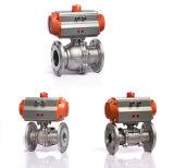 Type actionné pneumatique de bride de robinet à tournant sphérique de taille de pouce de la marque 1 1/2 de Klqd
