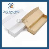 Boîte-cadeau blanche d'emballage de Macaron de carte (CMG-PCB-010)
