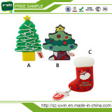 Pena plástica do USB da movimentação do flash do USB dos presentes do Natal