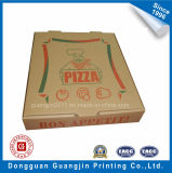 Caixa de pizza ondulada em papel Kraft Custom Made Brown