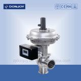 Ss 316L neumática de película delgada de la válvula inversora con posicionador