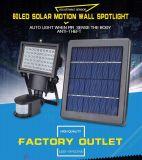 Уникальная конструкция литой алюминиевый корпус Светодиодный прожектор солнечной энергии для установки вне помещений