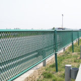 一時塀のチェーン・リンクの塀の金網