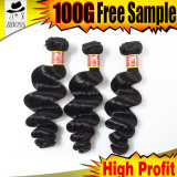9Un grade supérieur lâche Tissage de cheveux humains brésilien