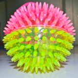 Cheap Colorful Flashing Lightning Spiky Ball with Sound