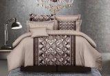 Roupa de cama por grosso de microfibras 4-6 Cartas impressas Lençol Definir extras
