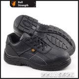 Puntera de acero&media suela de acero de cuero zapatos de trabajo de la placa de SN5113