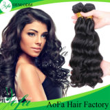 Estensione ondulata molto popolare dei capelli umani del Virgin del brasiliano di a buon mercato 100%