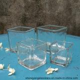 Рождество свободно образца празднует держатели для свечи квадратного кубика стеклянные для домашнего украшения