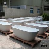 Kkrの人工的な石造りの浴室の支えがない固体表面の小さい浴槽