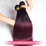 Prix de gros #1b Burg couleur bourgogne humaine Le Vison d'un sèche cheveux raides Extension