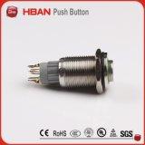 Interruptor de pulsador principal del anillo LED de la talla 16m m del montaje del panel alto