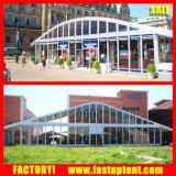 Barraca desobstruída de Salão do casamento da forma do arco do Sidewall com decorações luxuosas