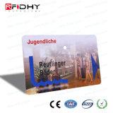 Acabamento brilhante MIFARE (R) 1K+RFID UHF Cartão de Freqüência Dupla