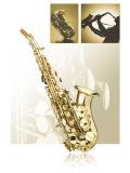 Bon Sax soprano courbé, laque d'or instrument de musique