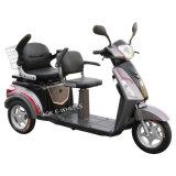 Alta calidad eléctrica de gran alcance para minusválidos Vespa, triciclo eléctrico con una silla Doble Deluxe (TC-018B)