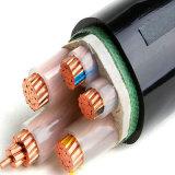 Condutor de cobre de 3 núcleos Isolados em XLPE blindados de Média Tensão do cabo de alimentação
